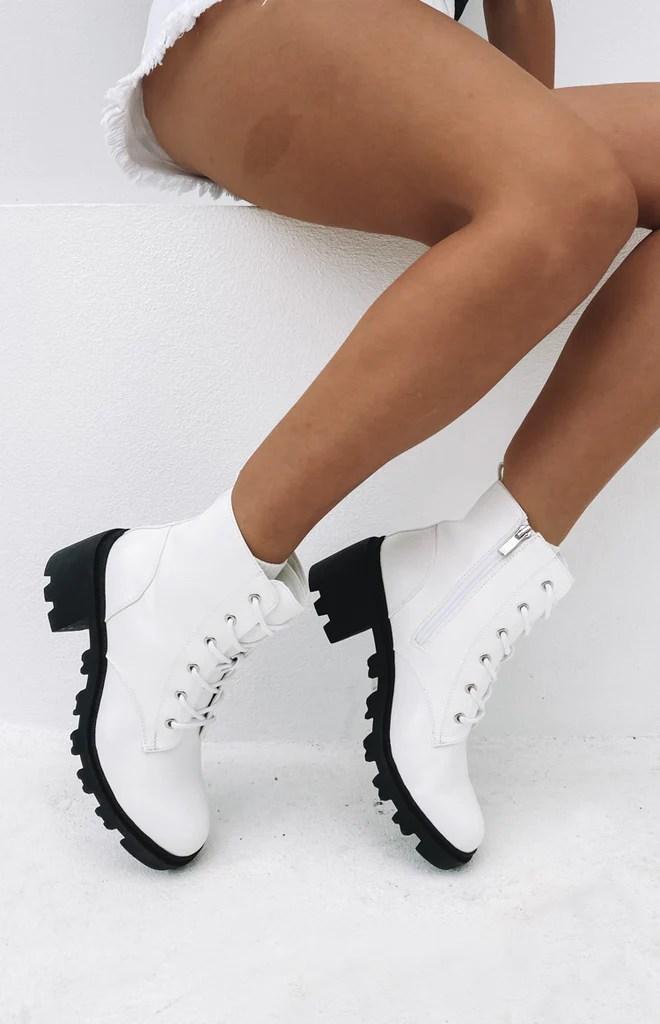 Verali Tonka Boot White Softee 5