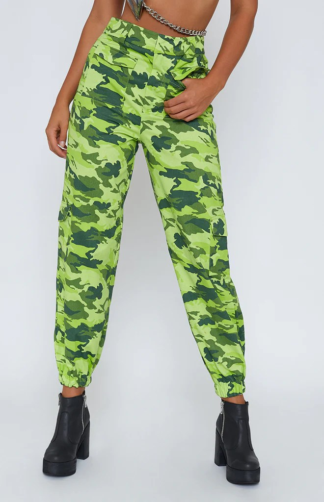 antares cargo pants lime