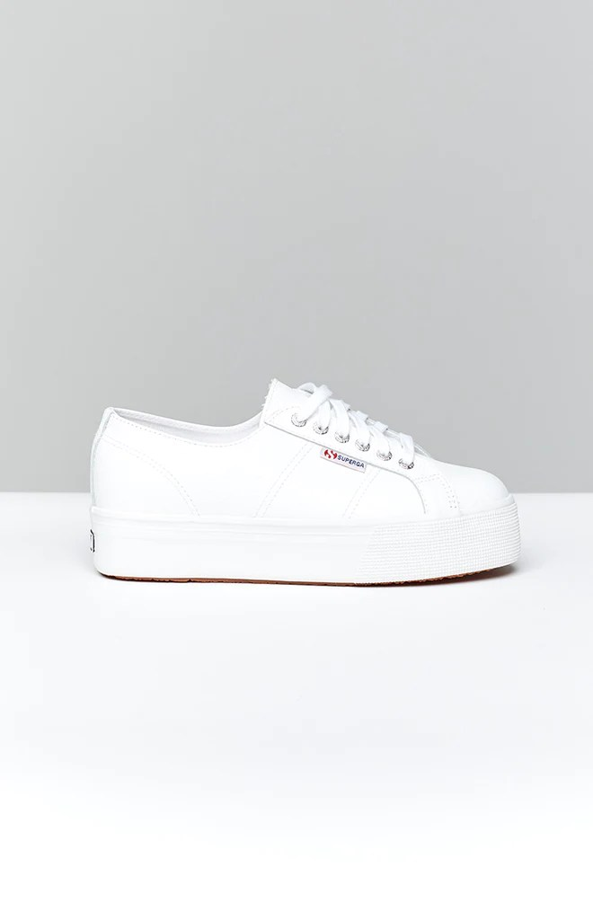 Superga 2790 FGLW Leather Sneaker White 5