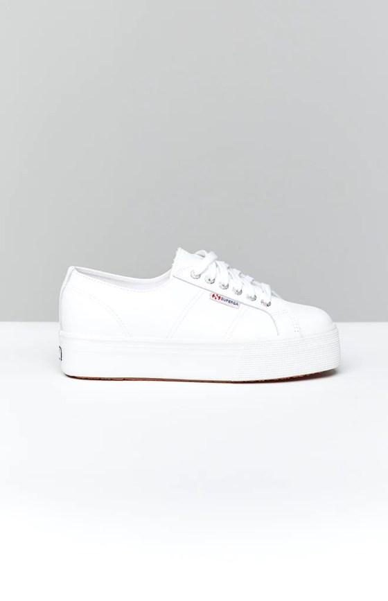 Superga 2790 FGLW Leather Sneaker White 11