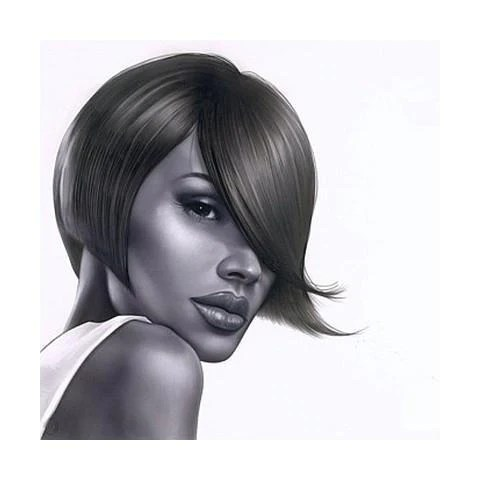 black hair salon art prints