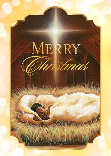 Baby Jesus African American Christmas Card Box Set The