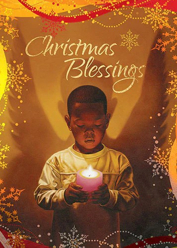 Christmas Blessings African American Christmas Card Box
