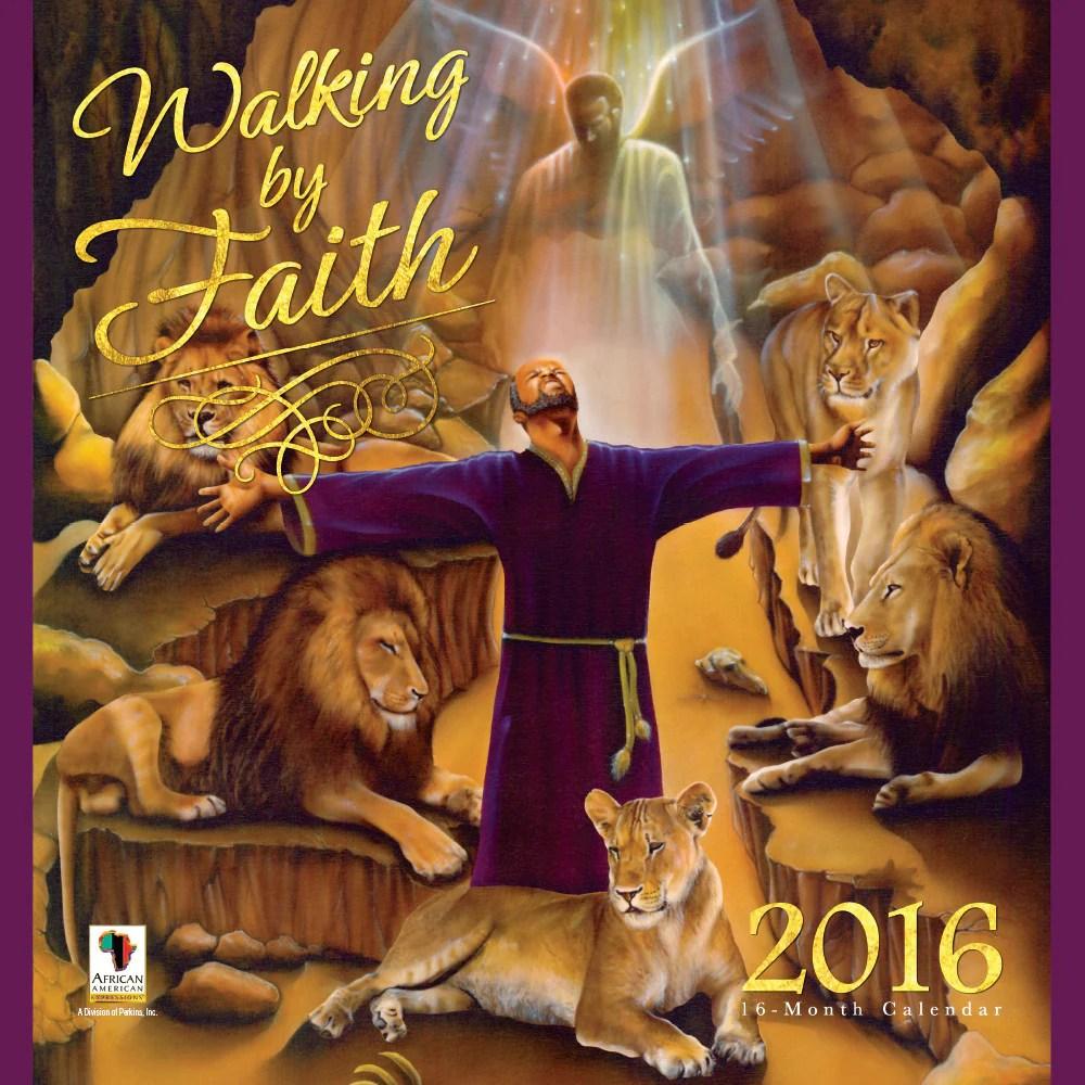 Walking Faith 2016 African American Wall Calendar