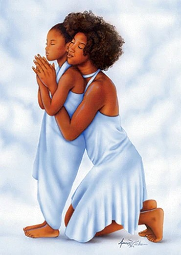 African American Mother Holding Baby