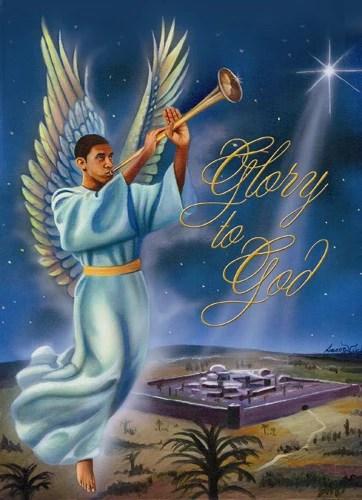 Glory To GOD African American Christmas Card Box Set Of
