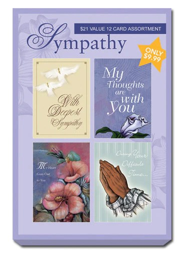 Purple Box Set Of Sympathy Greeting Cards The Black Art