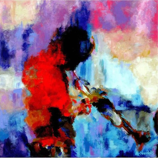 Miles Davis: Aura by Andrew Nichols | The Black Art Depot