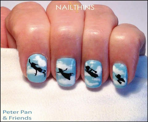 peter pan nail decal silhouettes