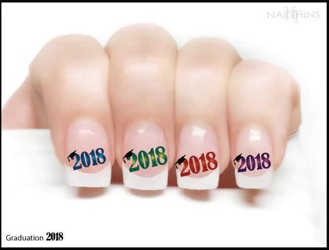 2018 graduation year nail decal