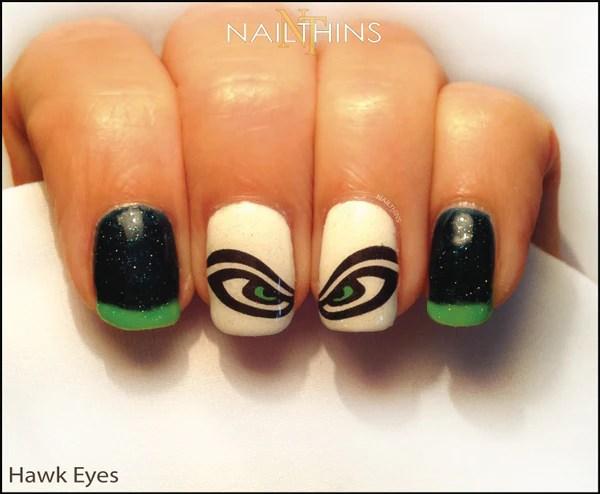 hawk eye nailthins nail decal seahawks