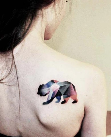 25 Awesome Geometric Animal Tattoos Strepik Temporary