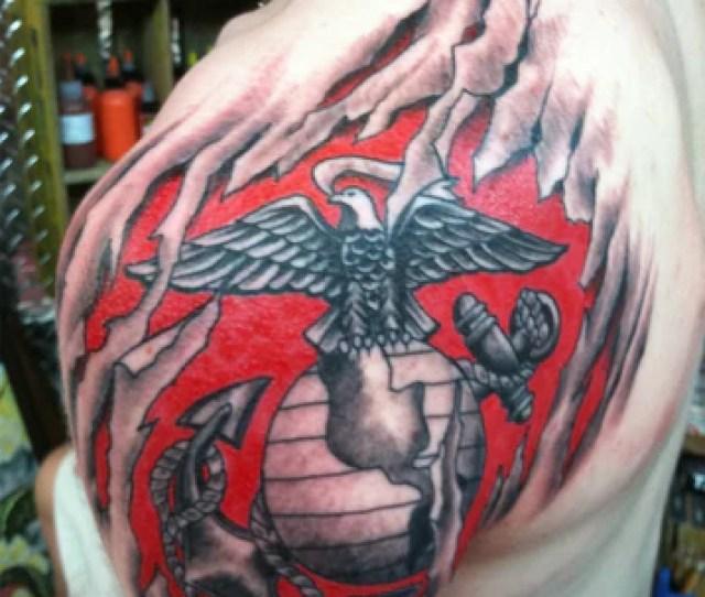 Eagle Globe And Anchor Usmc Tattoo Under Skin