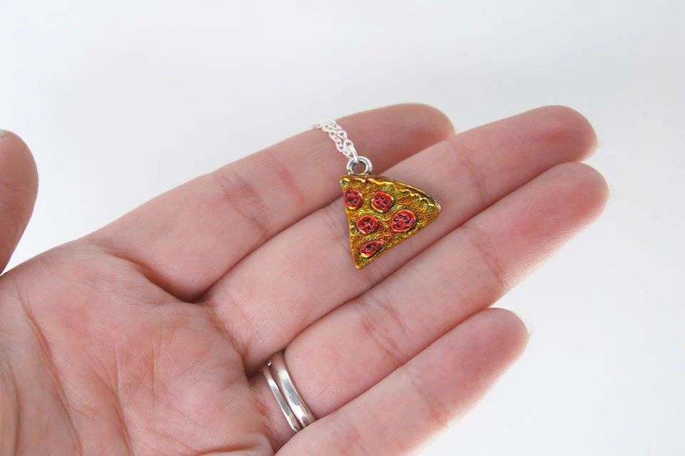 Pizza By The Slice BFF Necklace Best Friend Charm