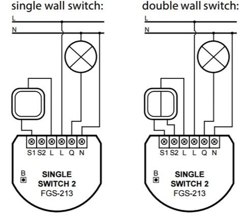 Fibaro ZWave Plus Single Switch 2 FGS213 ZW5 US  The