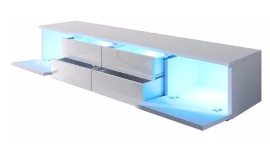 meuble tv fabio leds 4 tiroirs 2 niches
