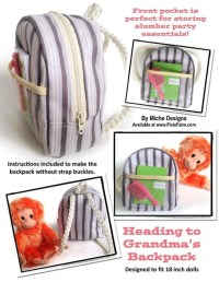 Miche Designs Heading to Grandma's Backpack Doll Clothes ...