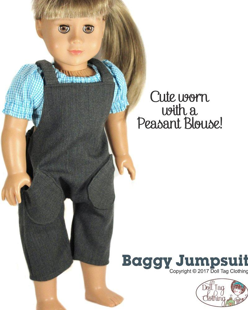 Doll Tag Clothing Baggy Jumpsuit Doll Clothes Pattern 18