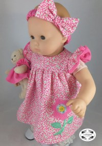 Bitty Baby Flutter Sleeve Dress 15 inch Doll Clothes PDF ...