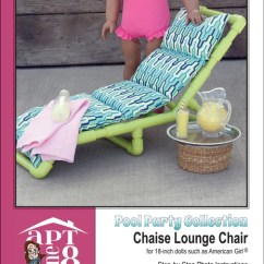 Pvc Lounge Chair Revolving Cost Pool Party Collection Chaise Pattern 18 Inch Dolls Pixie Faire