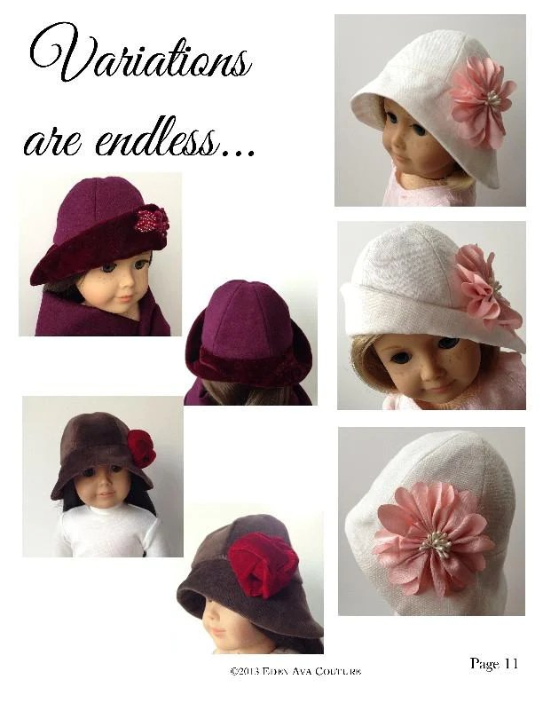 How To Make A Cloche Hat : cloche, Cloche, Clothes, Pattern, Download, Pixie, Faire