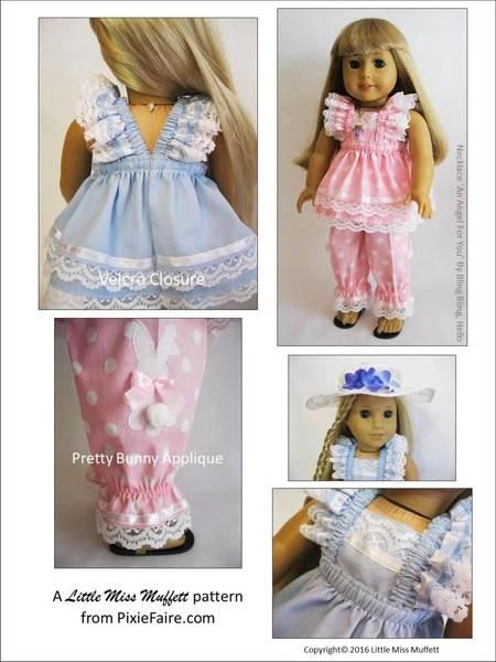Little Miss Muffett Easter Parade Doll Clothes Pattern 18