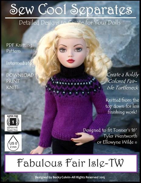 Sew Cool Separates Fabulous Fairisle Doll Clothes Pattern
