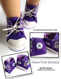 High Tops 18 inch Doll Shoes PDF Pattern Download | Pixie ...