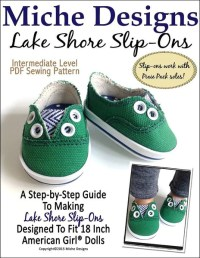 Miche Designs Lake Shore Slip-Ons Doll Clothes Pattern 18 ...