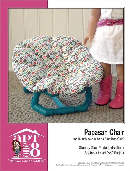 american girl doll high chair covers for couch aptone8 papasan pvc pattern 18 inch dolls such as girl®   pixie faire