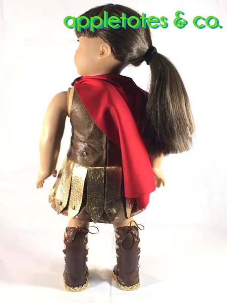 Appletotes  Co Roman Gladiator Costume Doll Clothes Pattern 18 inch dolls such as American Girl