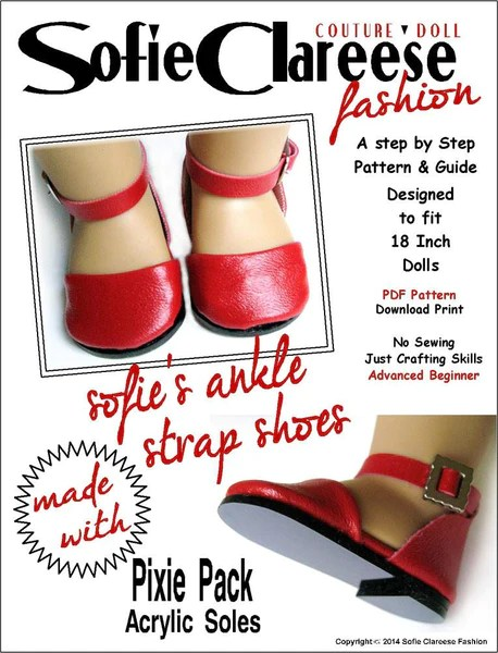 Sofie Clareese Fashion Sofies Ankle Strap Shoes Doll