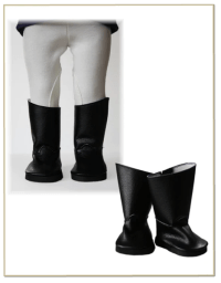 Equestrian Riding Boots 18 inch Doll Shoes Pattern PDF ...