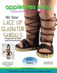 Appletotes & Co Lace Up Gladiators Sandals Doll Shoe ...