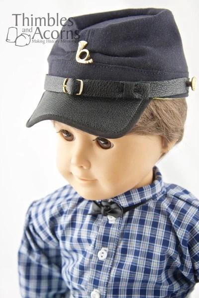 Thimbles And Acorns Civil War Kepi Hat Doll Clothes Pattern 18 Inch American Girl Dolls Pixie