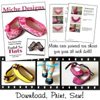 Pointed Toe Flats 18 inch Doll Shoes pattern PDF Download ...