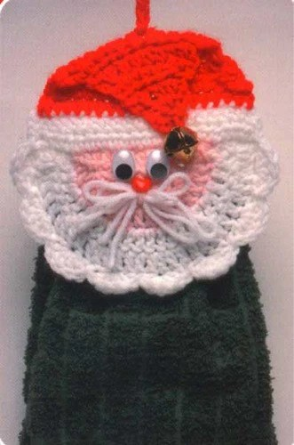 Santa and Snowman Towel Toppers Crochet Pattern  Maggies