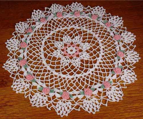 Rosebud Star Doily Pattern Maggies Crochet