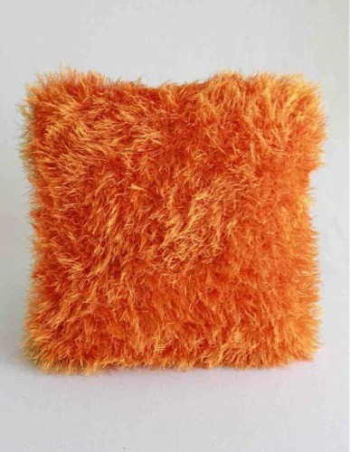 Fun Fur Throw Pillows Crochet Pattern  Maggies Crochet