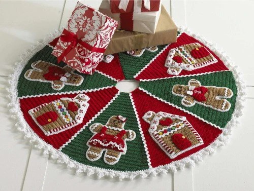 crochet christmas chair covers office exercise ball patterns maggie s gingerbread tree skirt pattern