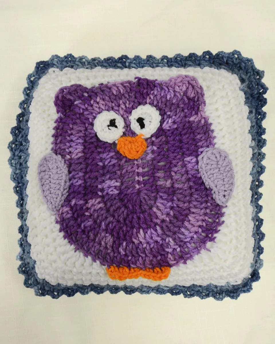 Owl Afghan Amp Pillow Set Crochet Pattern Maggies Crochet