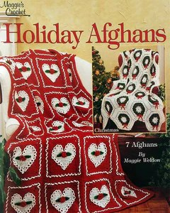 crochet christmas chair covers how to upholster a dining room holiday afghans 1 pattern leaflet maggie s