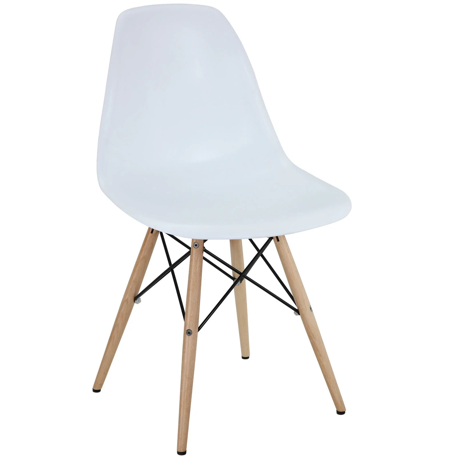 Scandinavian Chair Peace Side Chair White