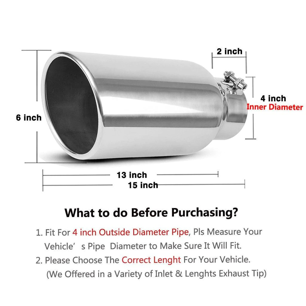 4 inlet to 6 outlet exhaust tip 4