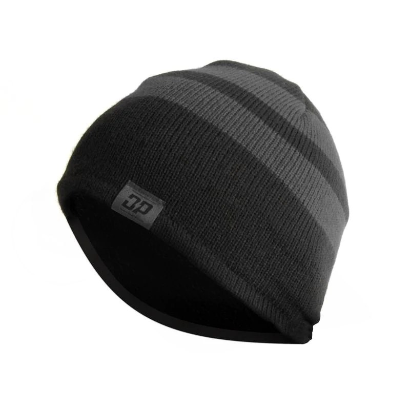 Black And Grey Striped Beanie - Exploring Mars 292b72229dfd