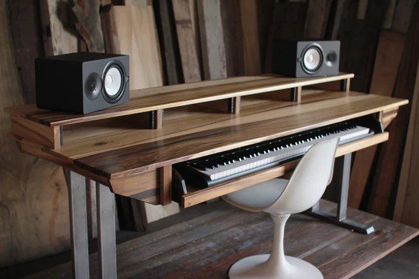 Full Size 88key Studio Desk for Audio  Video  Music  Film  Product  MONKWOOD