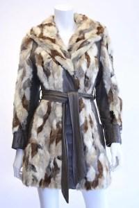 Vintage 60's Patchwork Mink Fur & Leather Coat