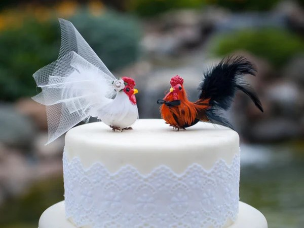 Barnyard Chicken Wedding Cake Topper  Candy Cake Weddings