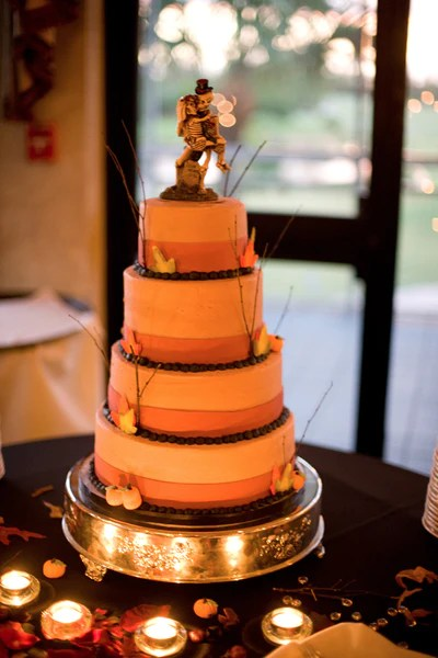 Halloween Wedding Cake  Candy Cake Weddings