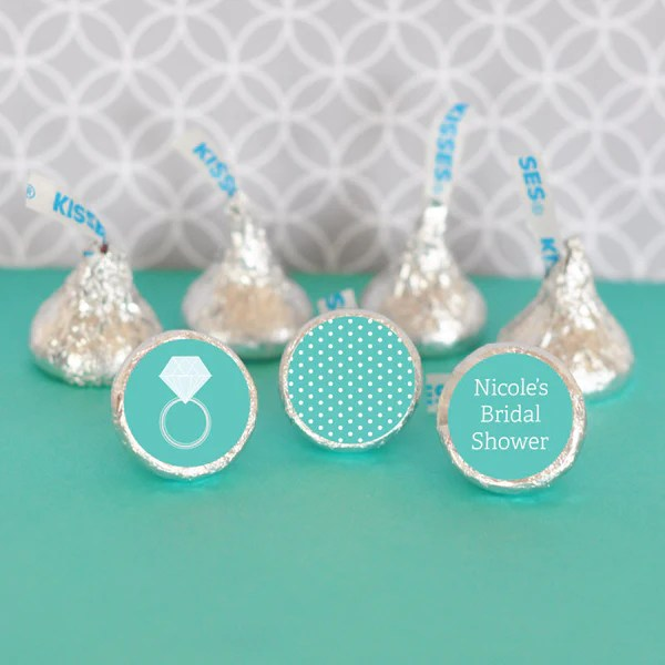 Hersheys Kisses Bridal Shower Stickers Set Of 108